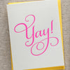 Yay! Letterpress Congratulations card