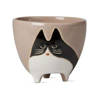 Cookie Cat Planter with Drain Hole - Steel Petal Press