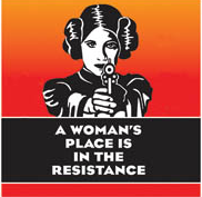 A Woman's Place Is In The Resistance Coaster