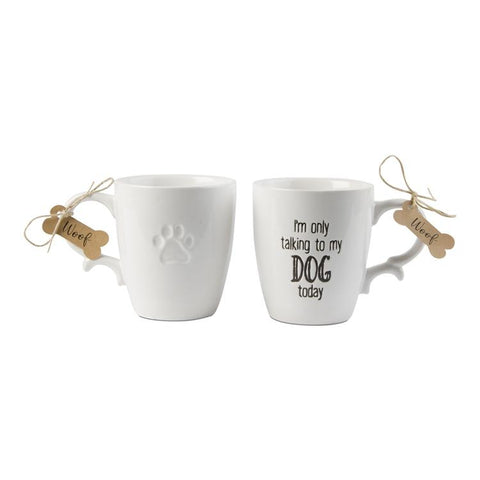 I'm Only Talking to My Dog Today Mug - Steel Petal Press