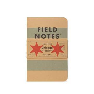 Chicago Flag Field Notes Memo Books Set of 3