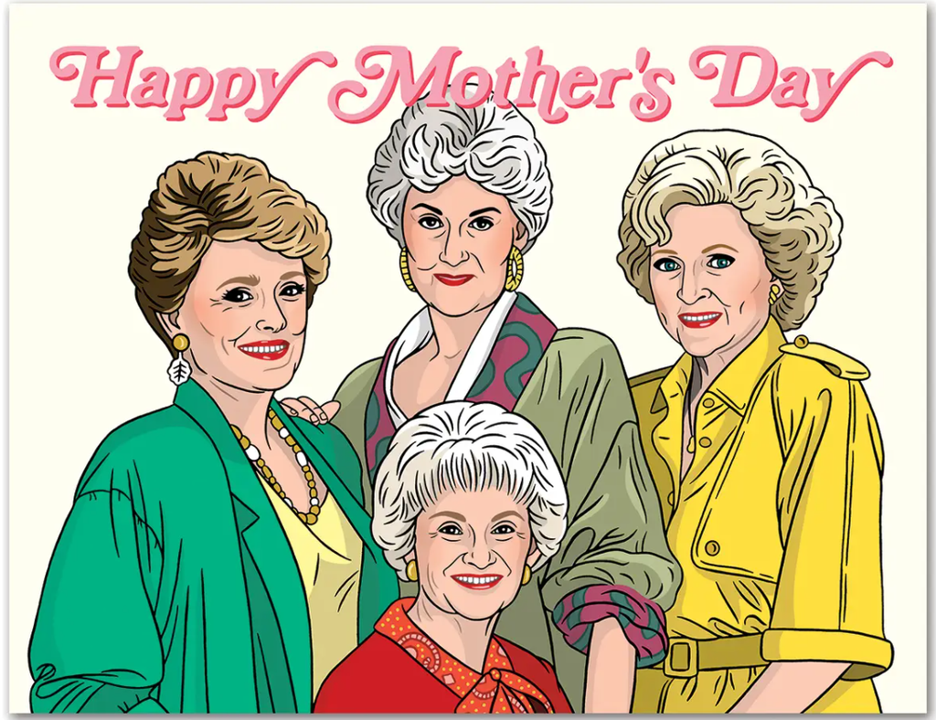 Happy Mothers Day Golden Gold Girls Card - TF