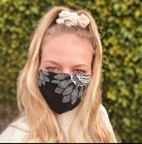 Lotus and Luna - Adult PLEATED Paisley Face Mask - Steel Petal Press