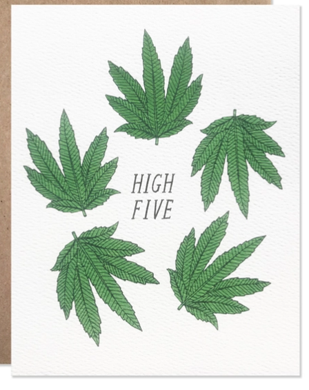 High Five Marijuana Weed Card - HLB