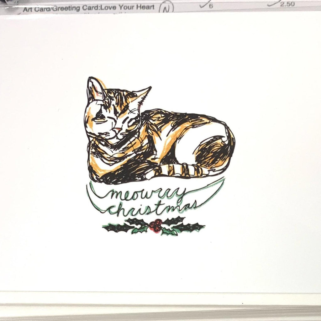 Meowrry Christmas Cat Card