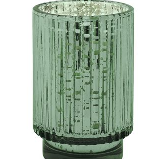Cypress & FIr Soy Wax Tall Green Mercury Glass Candle