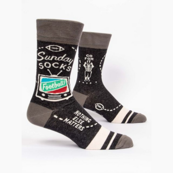 Mens Crew Socks  - Sunday Football Socks - Steel Petal Press