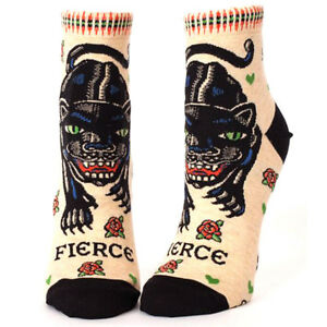 Fierce Women's Ankle Socks - Steel Petal Press