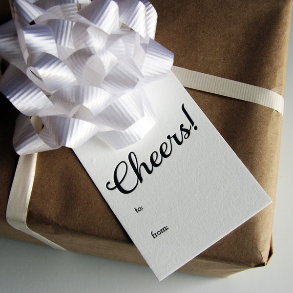 Cheers Gift Tags | Steel Petal Press