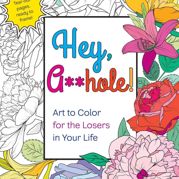 Hey Asshole Coloring Book - Steel Petal Press