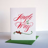 Letterpress Christmas holiday card