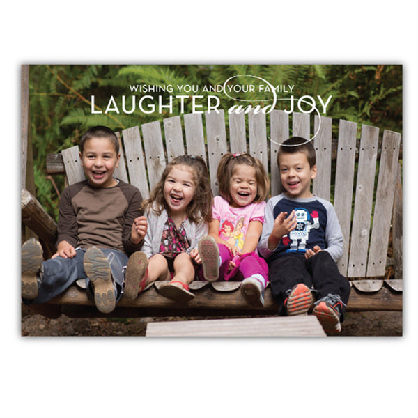 Laughter and Joy Photo Card | Steel Petal Press