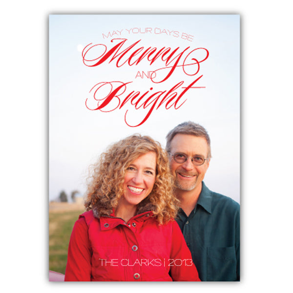 Merry and Bright Holiday Photo Card | Steel Petal Press