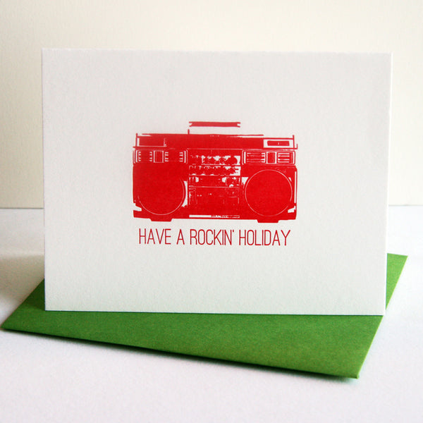 Rockin' Holiday Card | Steel Petal Press