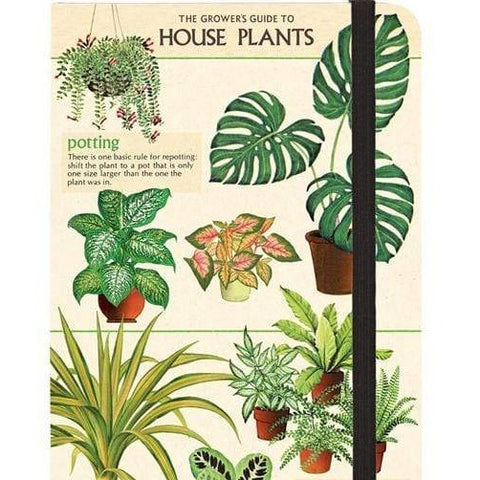 House Plants Small Notebook With Elastic Band - Steel Petal Press