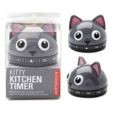Kitty Cat Kitchen Timer - Steel Petal Press