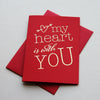 Gold Foil Love Valentine card Heart is With You