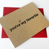 Still my Favorite Letterpress Love card