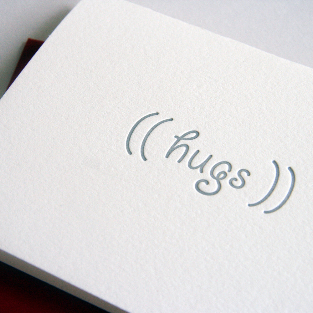 Hugs Card - Steel Petal Press
