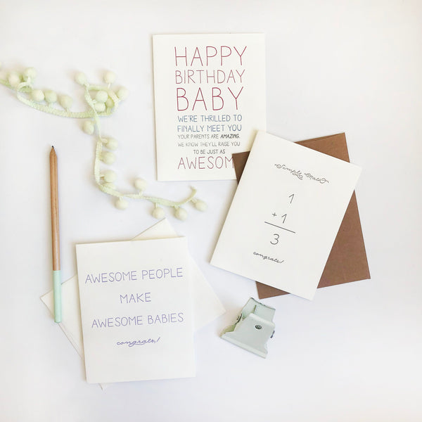 Baby Bday Card - Steel Petal Press