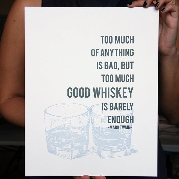 Whiskey Poster | Steel Petal Press
