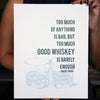 Whiskey letterpress poster