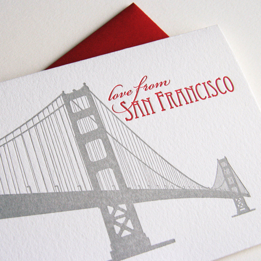 Love from SF Bridge Card - Steel Petal Press