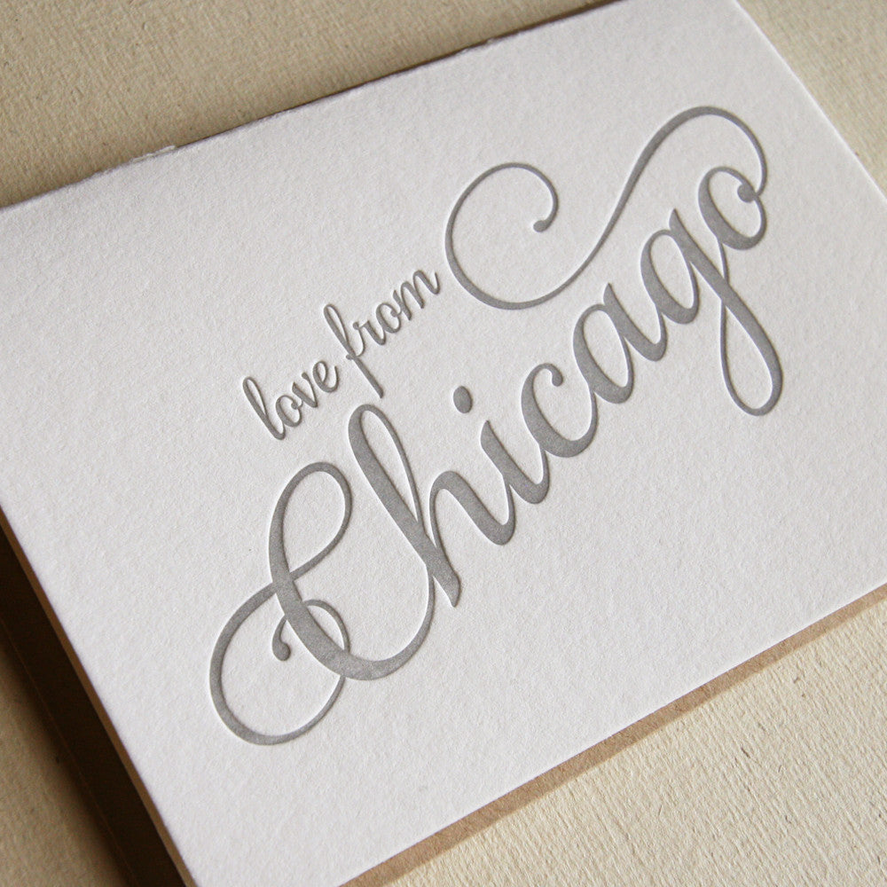 Love from Chicago Card - Steel Petal Press