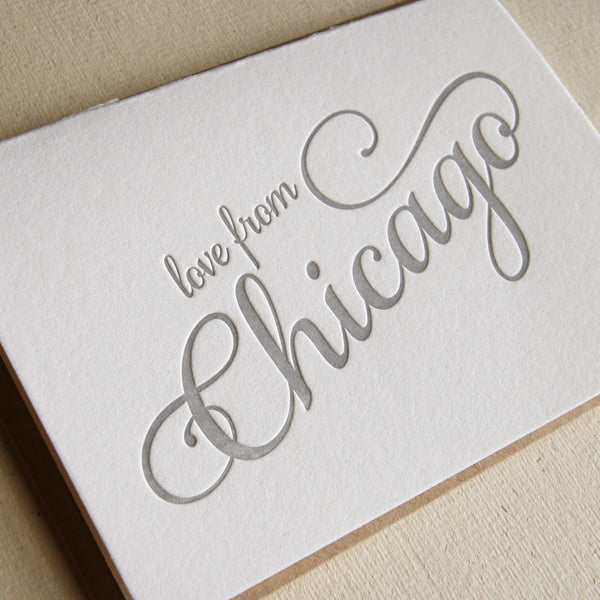 Love from Chicago Card | Steel Petal Press