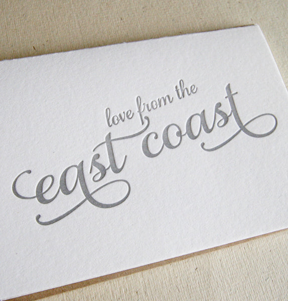 Love from the East Coast Card | Steel Petal Press