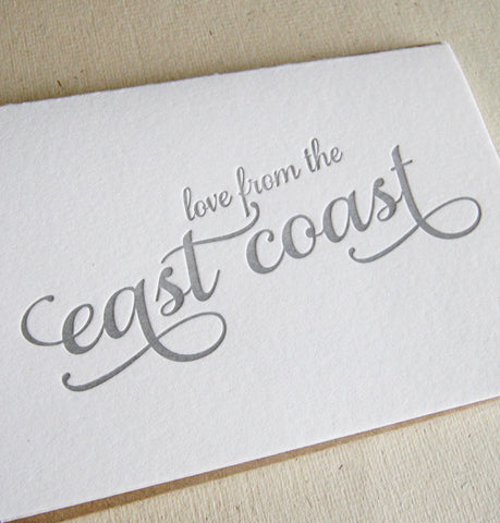 Love from the East Coast Card - Steel Petal Press
