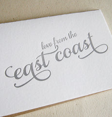 Love from the East Coast Card