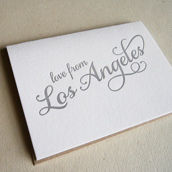 Love from LA Card | Steel Petal Press