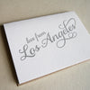 Letterpress greeting card Love from the Los Angeles