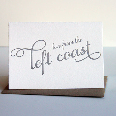 Love from the Left Coast Card - Steel Petal Press