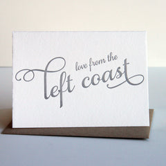 Love from the Left Coast Card