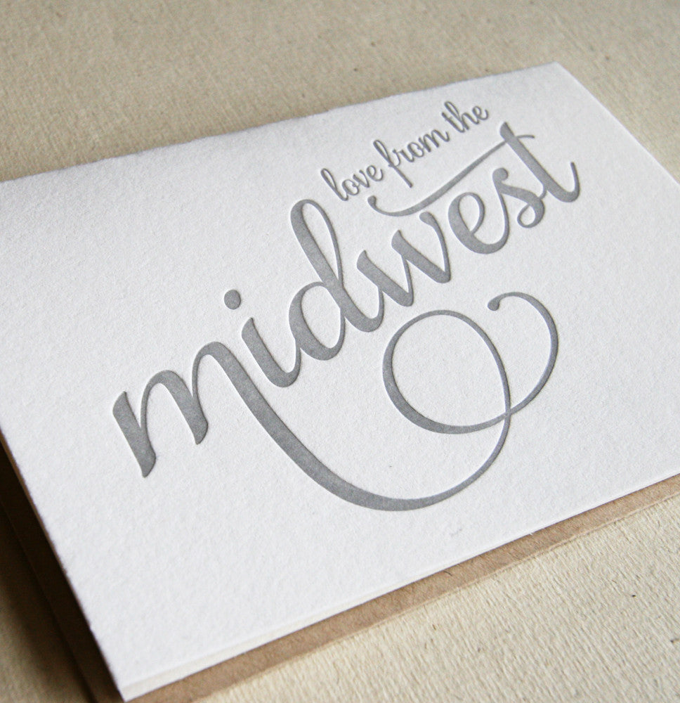 Love from the Midwest Card - Steel Petal Press