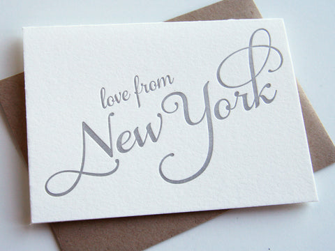 Love from New York Card - Steel Petal Press