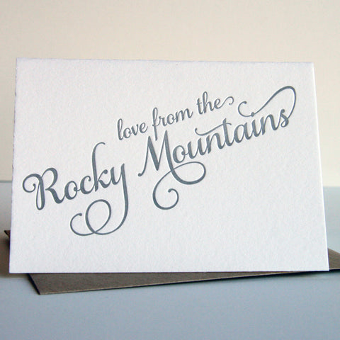 Love from the Rocky Mountains card - Steel Petal Press