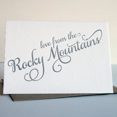 Love from the Rocky Mountains card