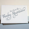Love from the Rocky Mountains Letterpress Card