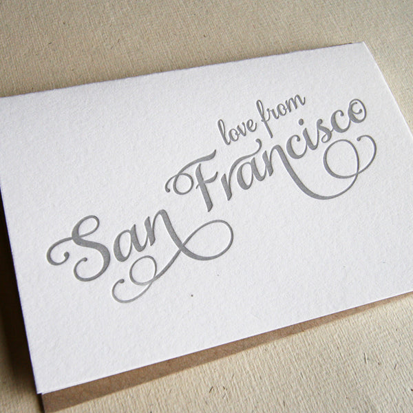 Love from San Francisco Card | Steel Petal Press