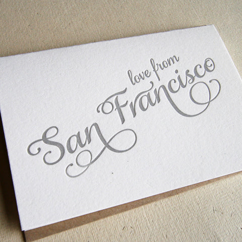 Love from San Francisco Card - Steel Petal Press