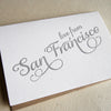 Love from San Francisco Letterpress Card