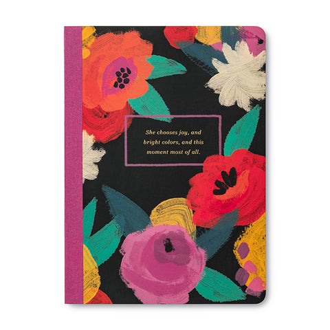 She Chooses Joy Quote Notebook - Steel Petal Press