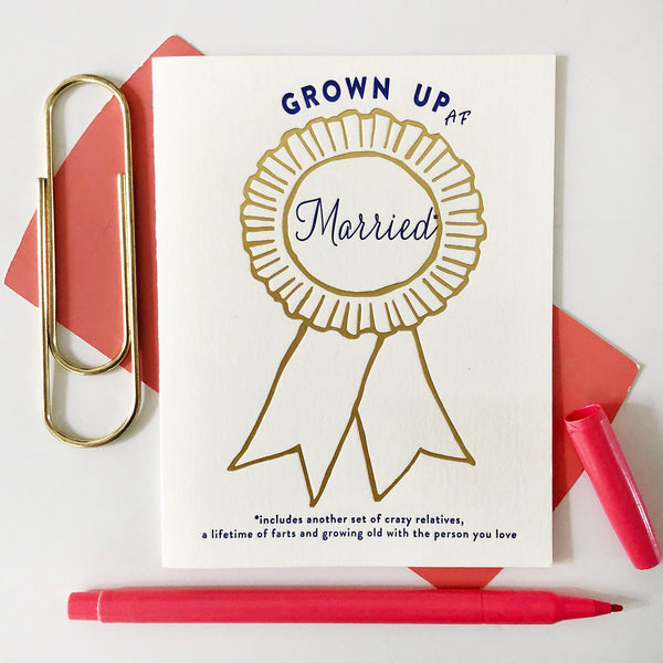 Award Ribbon Married - Steel Petal Press