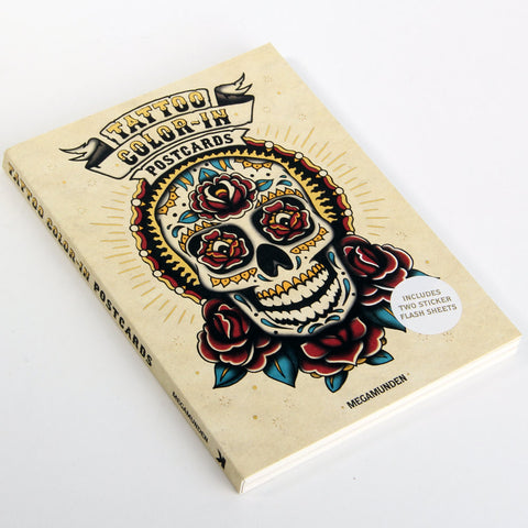 Tattoo Color-In Postcards - Steel Petal Press