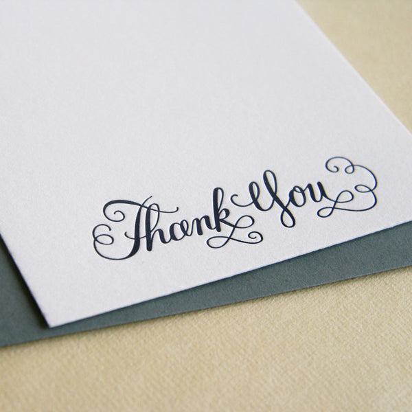 Calligraphy Thank You BOX | Steel Petal Press