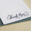 Letterpress thank you card boxed set Calligraphy