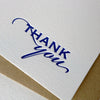 Royal Blue Thanks letterpress boxed thank you cards